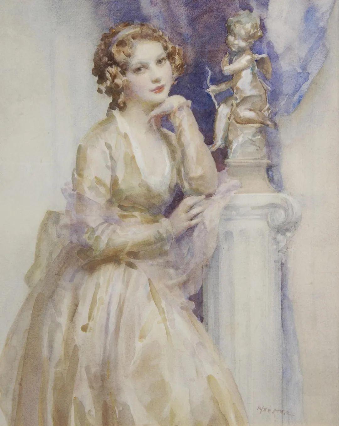 柔和流畅的绘画风格,年轻女性的肖像!插图24