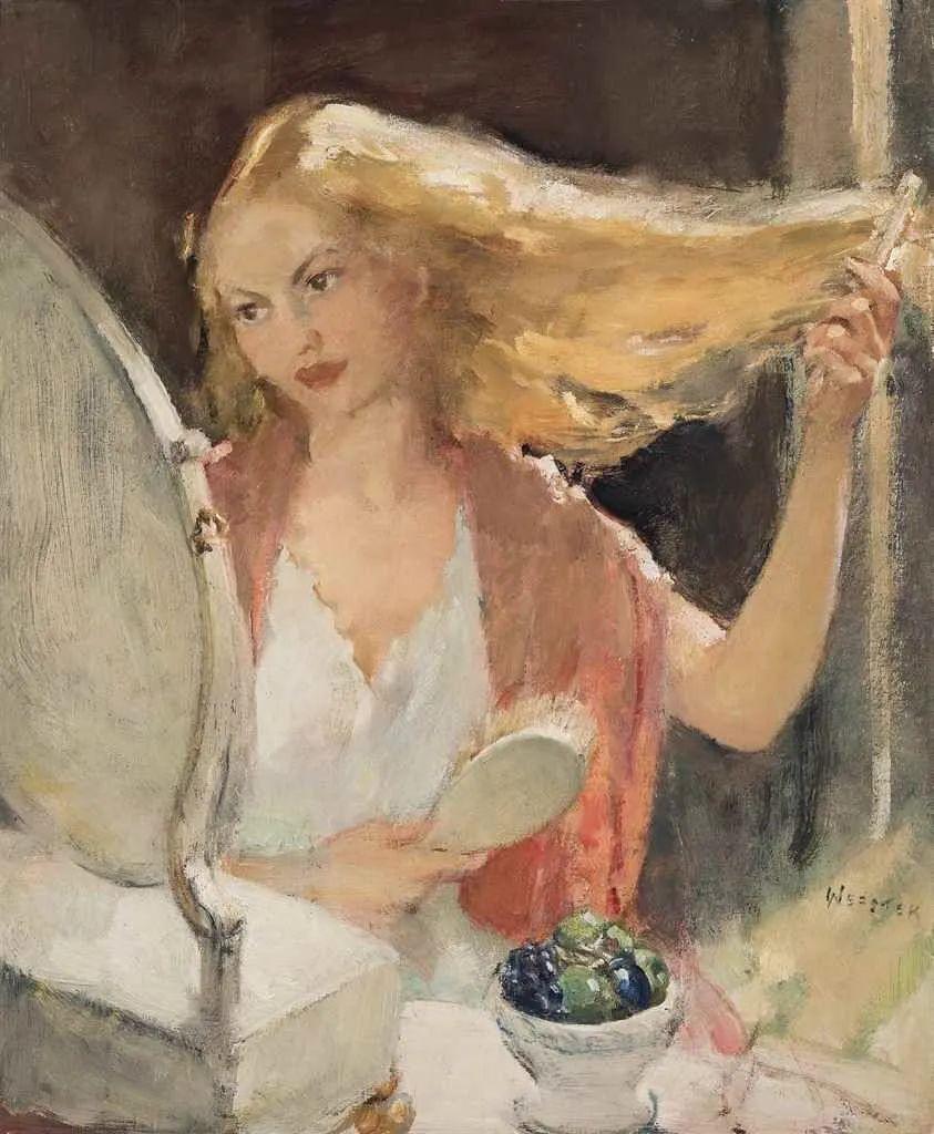 柔和流畅的绘画风格,年轻女性的肖像!插图32
