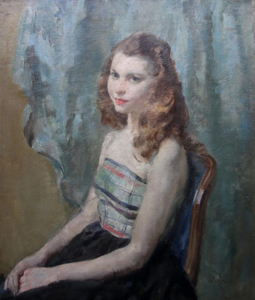 柔和流畅的绘画风格,年轻女性的肖像!插图34