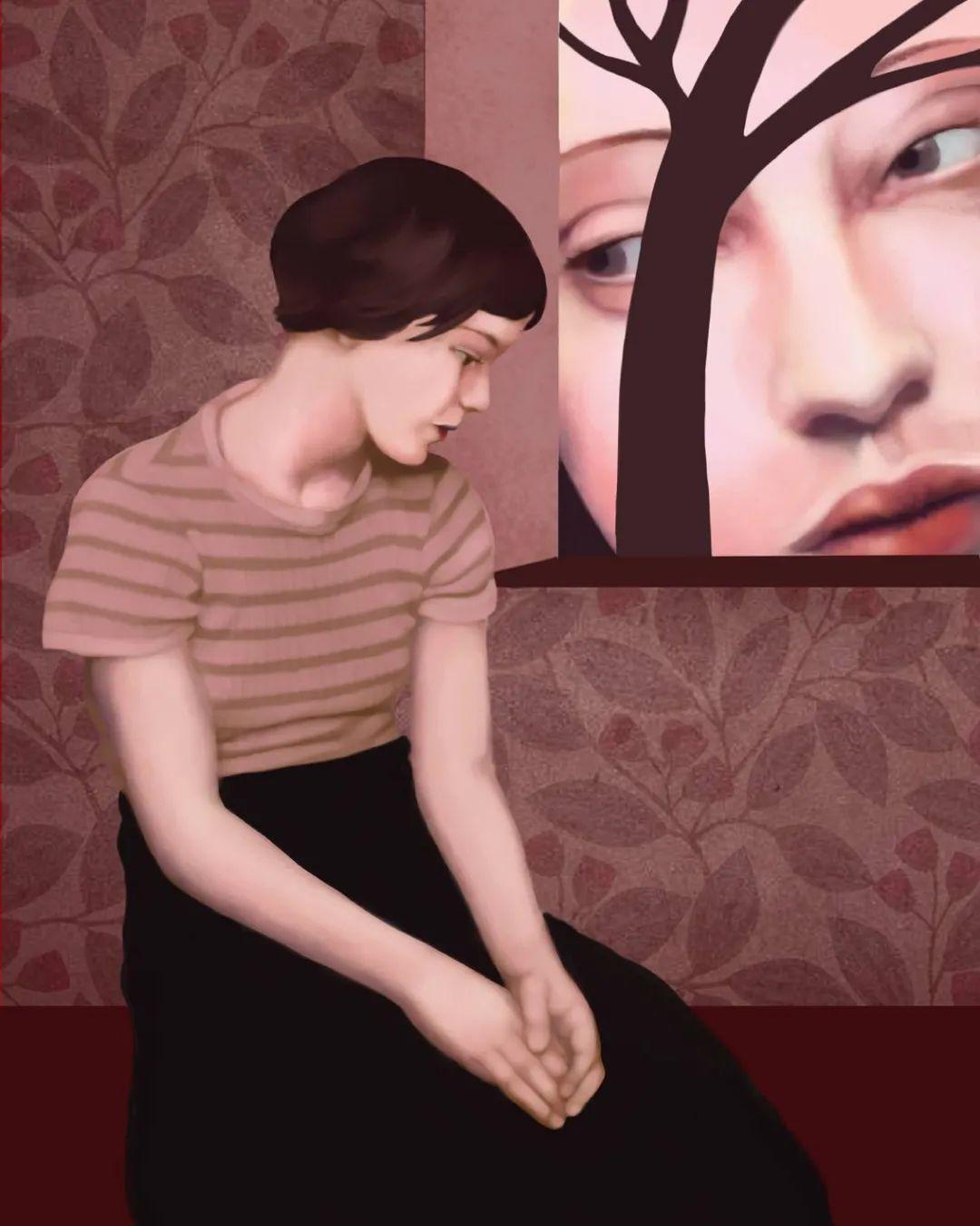 超现实的、空灵的女性形象插图77