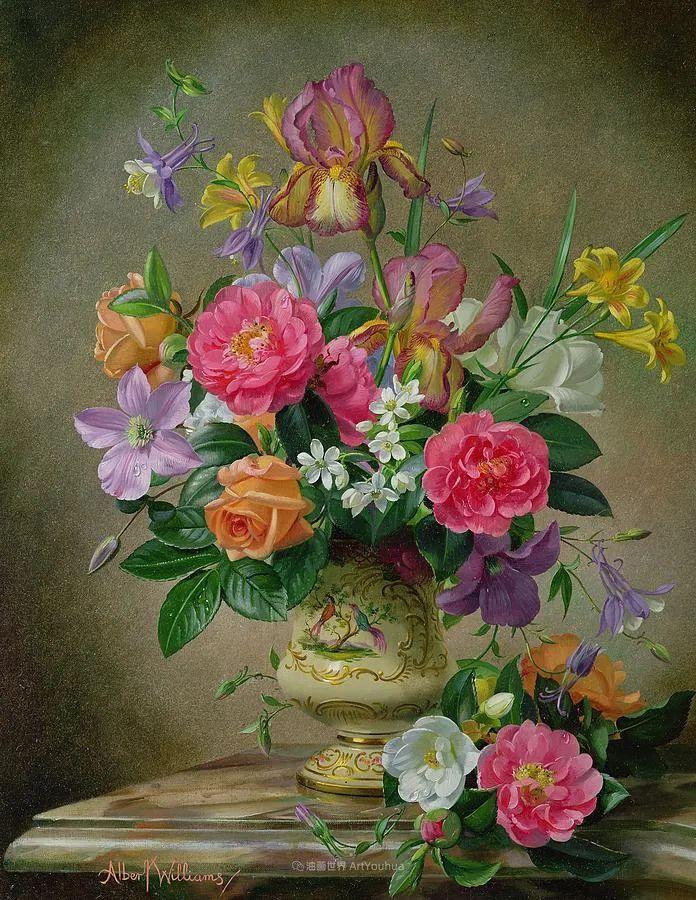 他放弃了古典风格,以更自然、个性化的风格绘画现代花卉!插图7