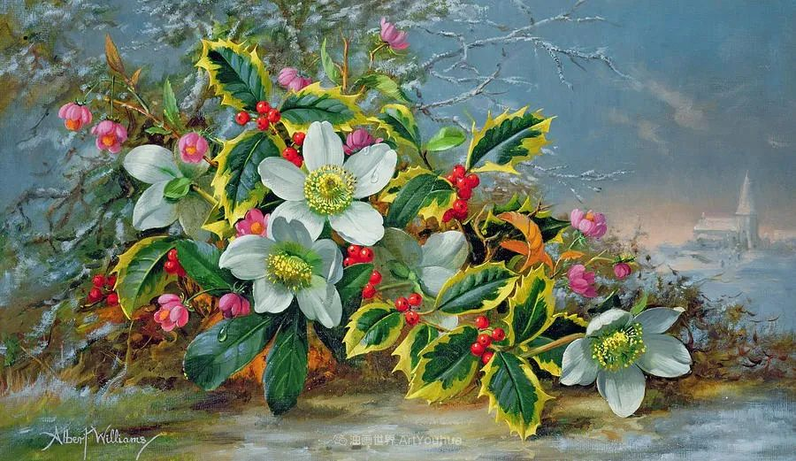 他放弃了古典风格,以更自然、个性化的风格绘画现代花卉!插图9