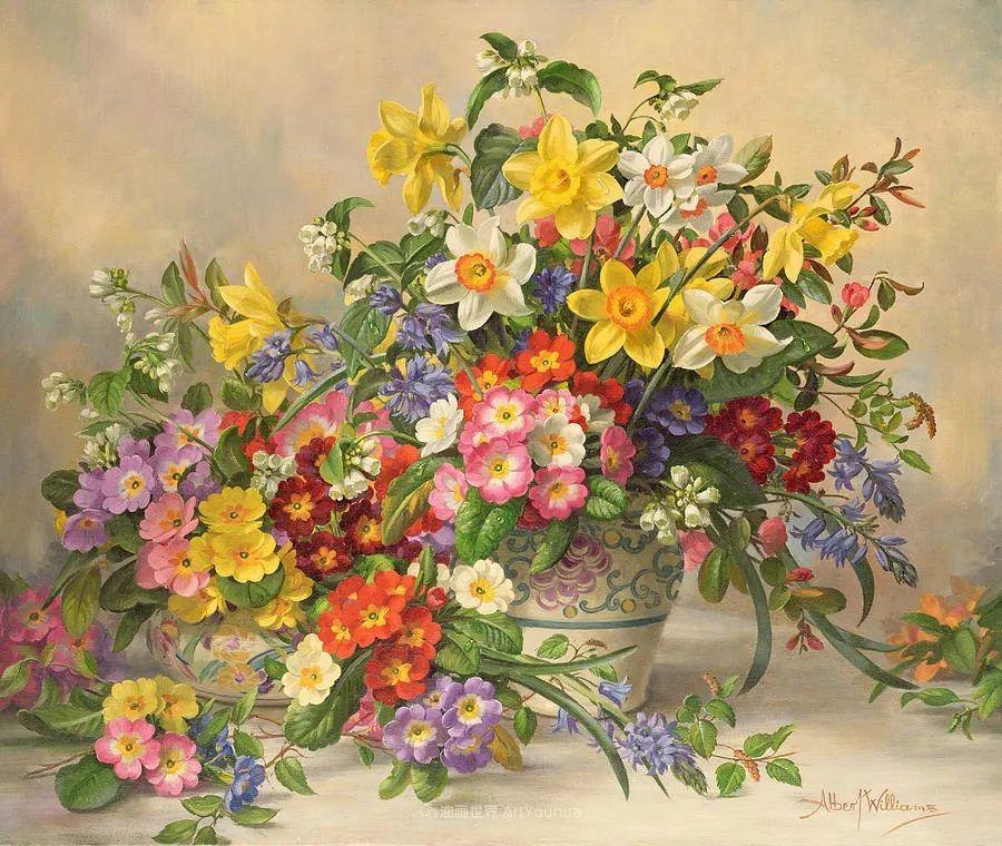 他放弃了古典风格,以更自然、个性化的风格绘画现代花卉!插图13