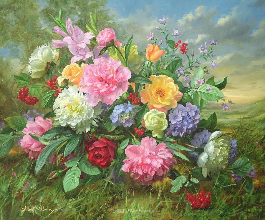 他放弃了古典风格,以更自然、个性化的风格绘画现代花卉!插图15