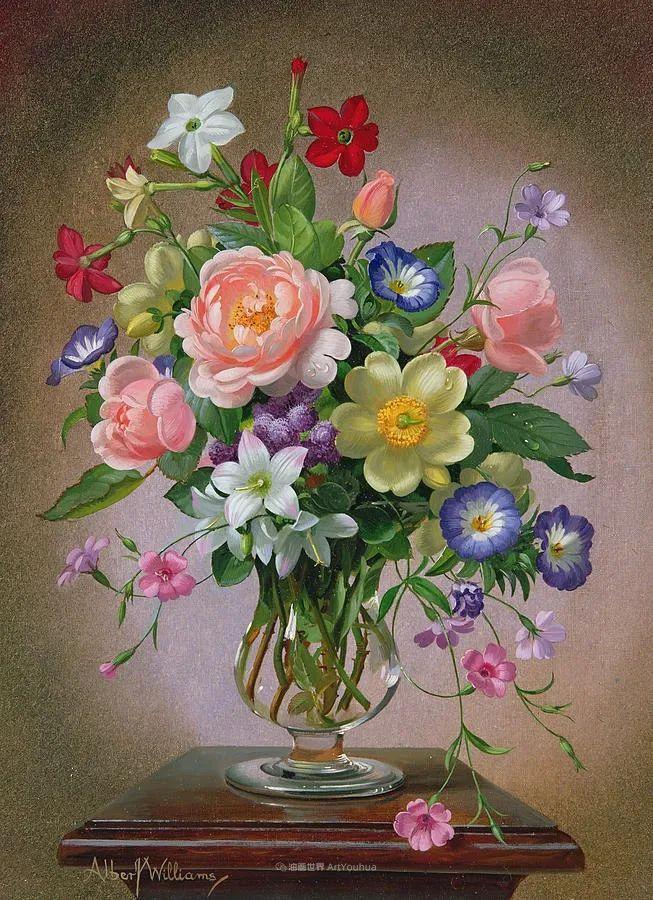 他放弃了古典风格,以更自然、个性化的风格绘画现代花卉!插图17