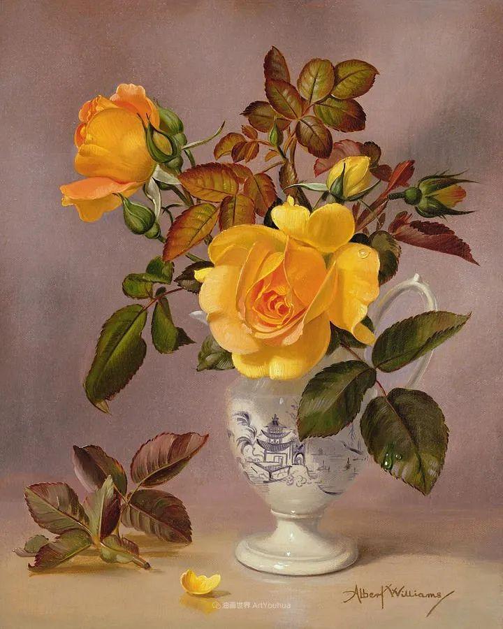 他放弃了古典风格,以更自然、个性化的风格绘画现代花卉!插图21