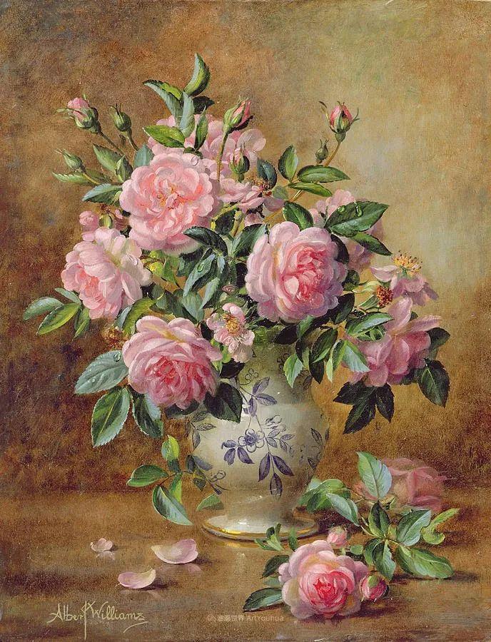 他放弃了古典风格,以更自然、个性化的风格绘画现代花卉!插图23