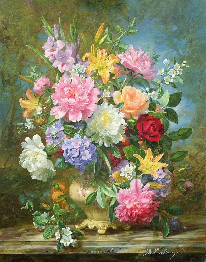 他放弃了古典风格,以更自然、个性化的风格绘画现代花卉!插图25