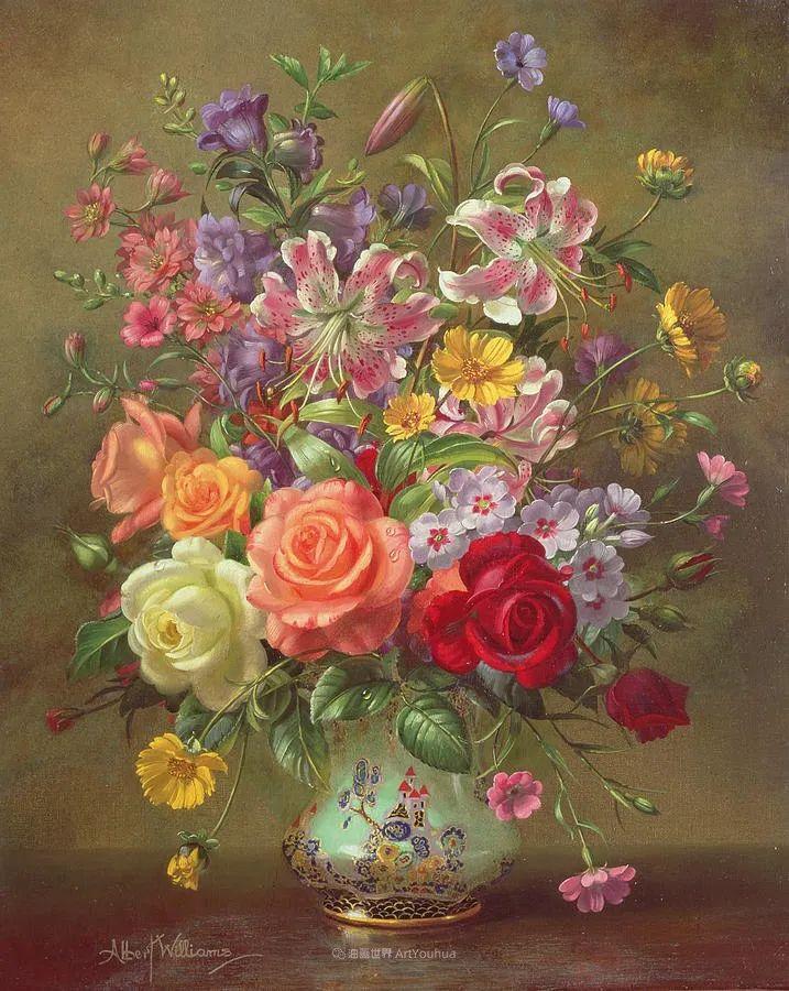 他放弃了古典风格,以更自然、个性化的风格绘画现代花卉!插图27
