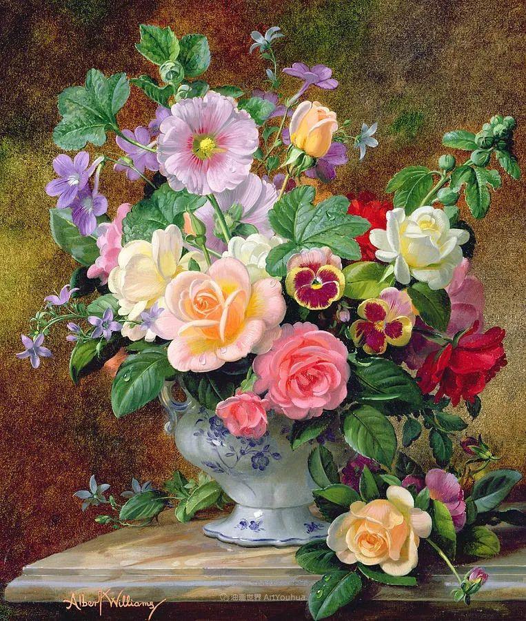 他放弃了古典风格,以更自然、个性化的风格绘画现代花卉!插图33