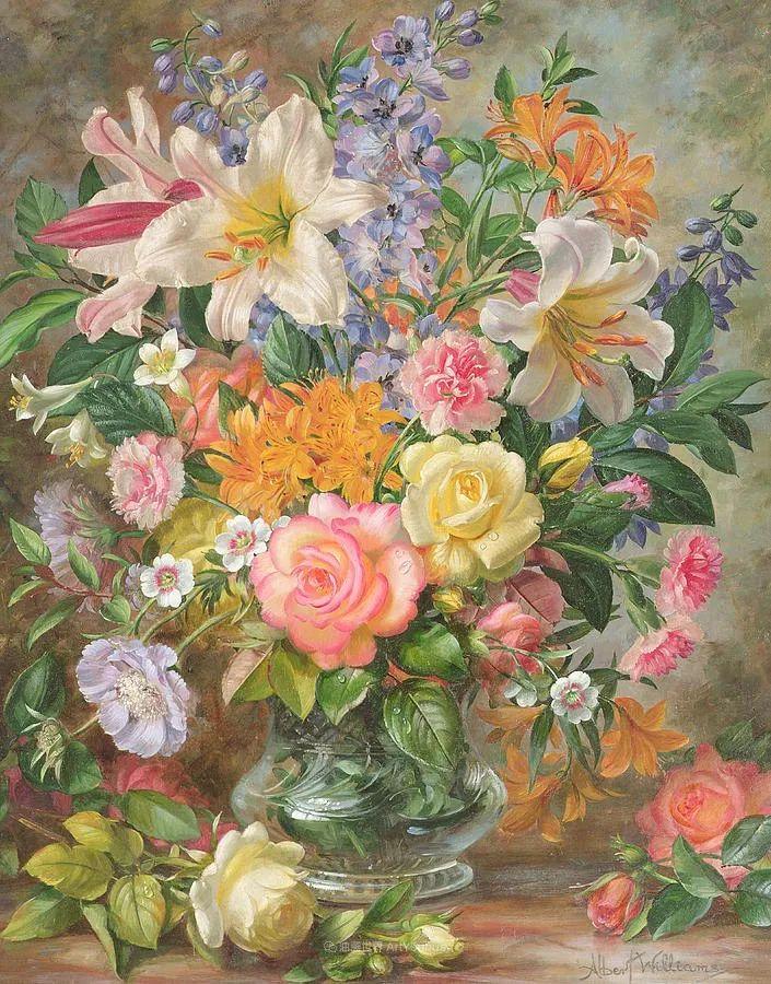 他放弃了古典风格,以更自然、个性化的风格绘画现代花卉!插图35