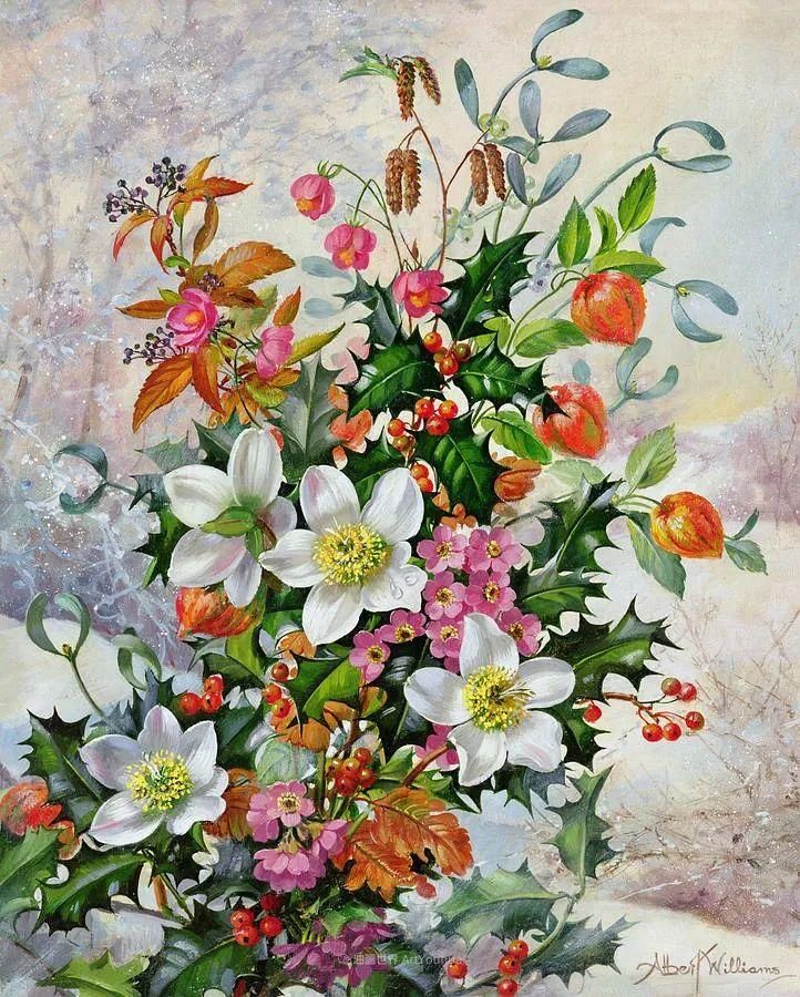 他放弃了古典风格,以更自然、个性化的风格绘画现代花卉!插图37