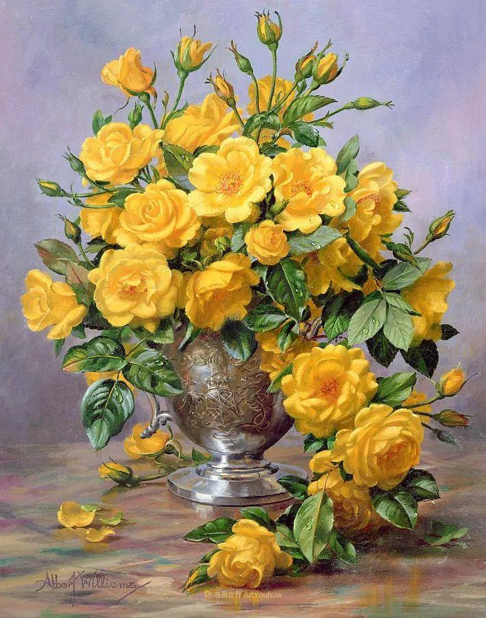 他放弃了古典风格,以更自然、个性化的风格绘画现代花卉!插图39