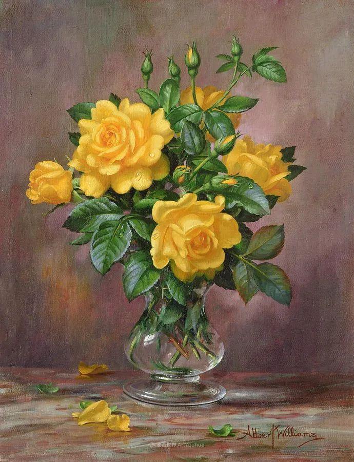 他放弃了古典风格,以更自然、个性化的风格绘画现代花卉!插图41