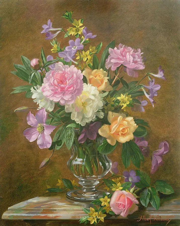 他放弃了古典风格,以更自然、个性化的风格绘画现代花卉!插图45