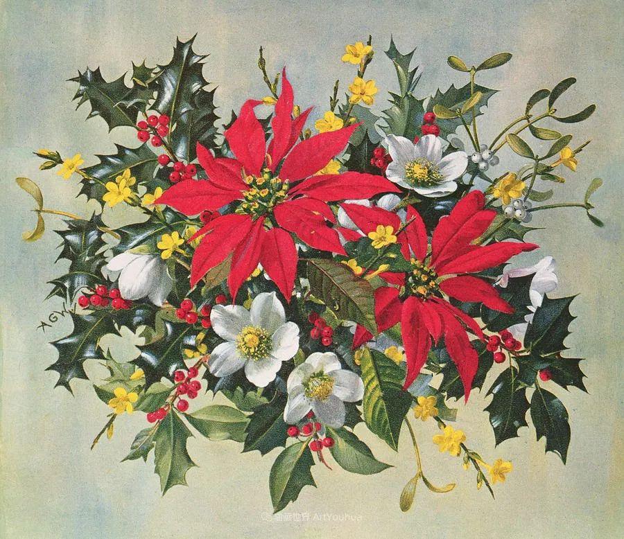 他放弃了古典风格,以更自然、个性化的风格绘画现代花卉!插图49