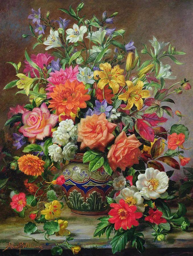 他放弃了古典风格,以更自然、个性化的风格绘画现代花卉!插图59