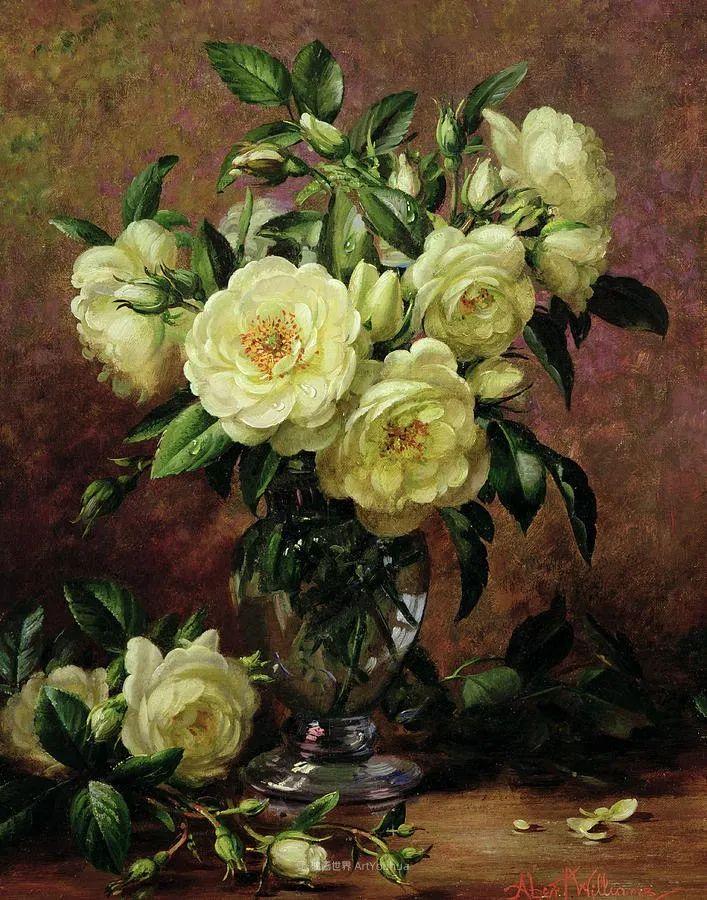他放弃了古典风格,以更自然、个性化的风格绘画现代花卉!插图63