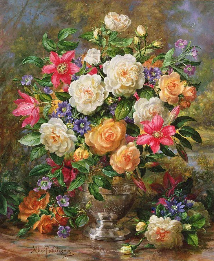 他放弃了古典风格,以更自然、个性化的风格绘画现代花卉!插图65