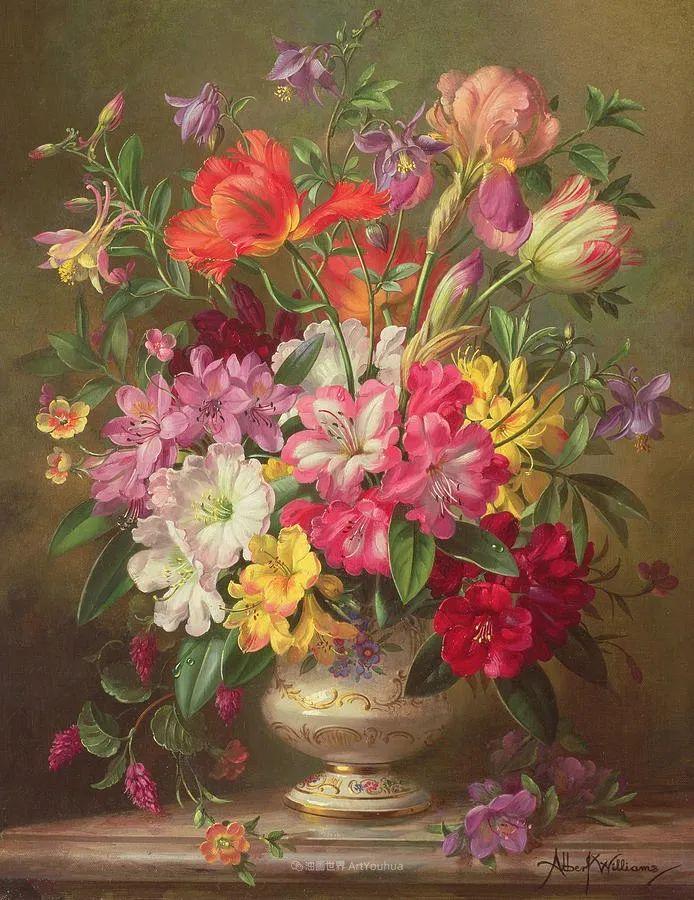 他放弃了古典风格,以更自然、个性化的风格绘画现代花卉!插图73