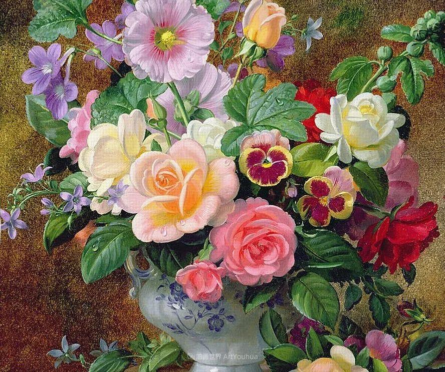 他放弃了古典风格,以更自然、个性化的风格绘画现代花卉!插图77
