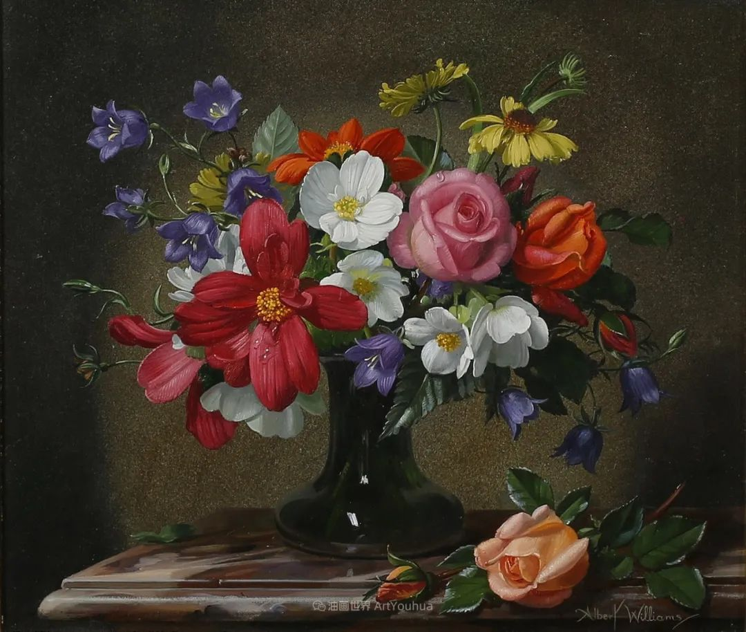 他放弃了古典风格,以更自然、个性化的风格绘画现代花卉!插图79
