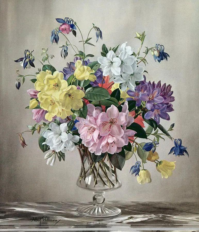 他放弃了古典风格,以更自然、个性化的风格绘画现代花卉!插图81