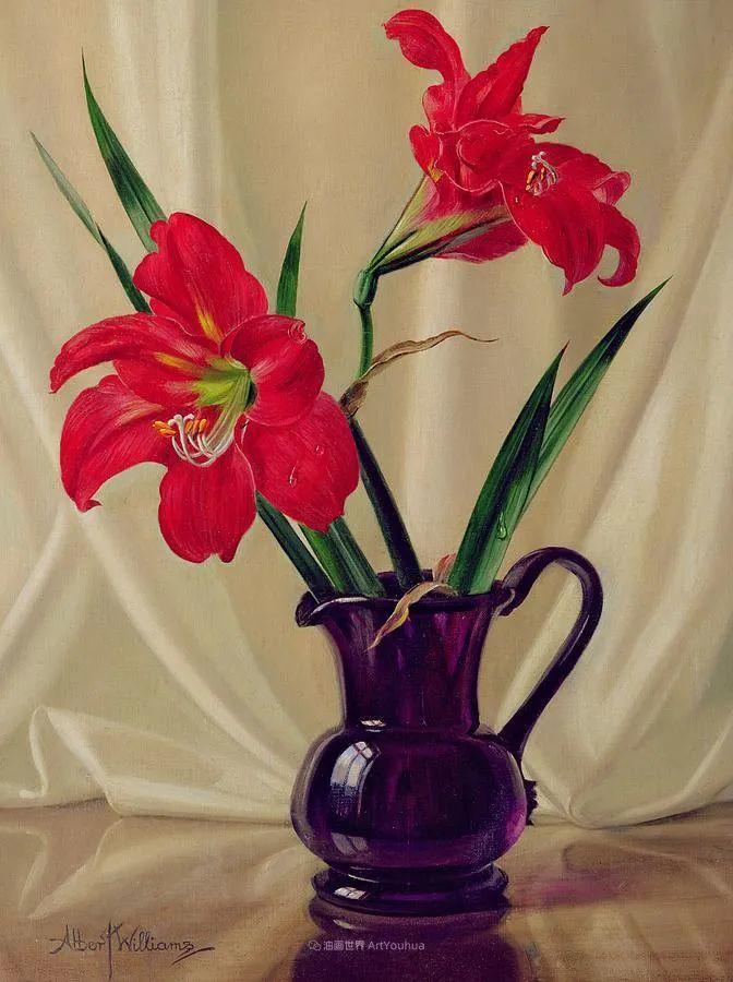 他放弃了古典风格,以更自然、个性化的风格绘画现代花卉!插图85