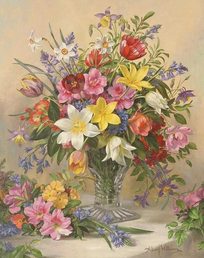 他放弃了古典风格,以更自然、个性化的风格绘画现代花卉!插图87