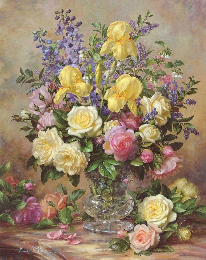 他放弃了古典风格,以更自然、个性化的风格绘画现代花卉!插图91