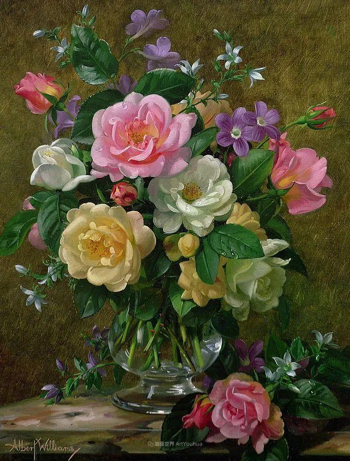他放弃了古典风格,以更自然、个性化的风格绘画现代花卉!插图93