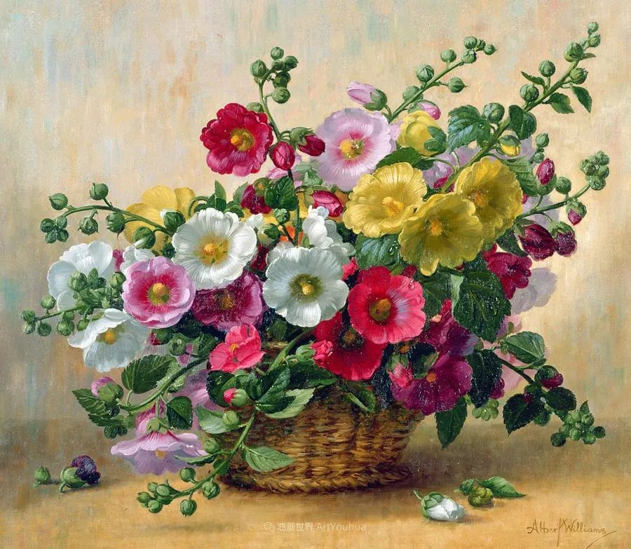 他放弃了古典风格,以更自然、个性化的风格绘画现代花卉!插图95