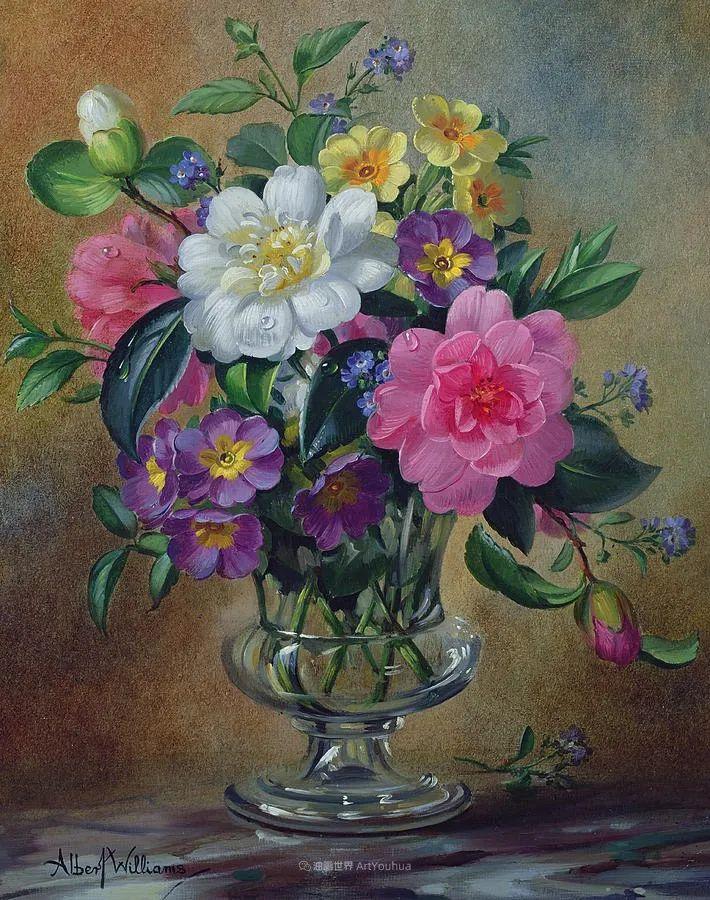 他放弃了古典风格,以更自然、个性化的风格绘画现代花卉!插图101