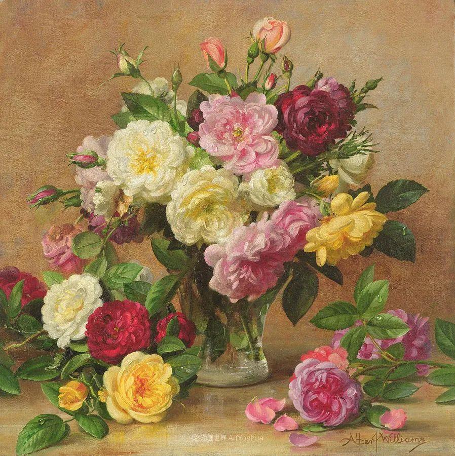 他放弃了古典风格,以更自然、个性化的风格绘画现代花卉!插图103