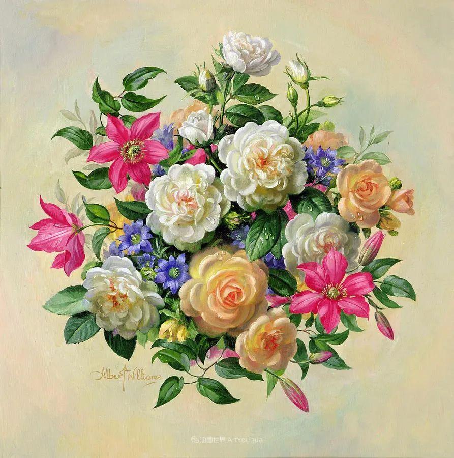他放弃了古典风格,以更自然、个性化的风格绘画现代花卉!插图105
