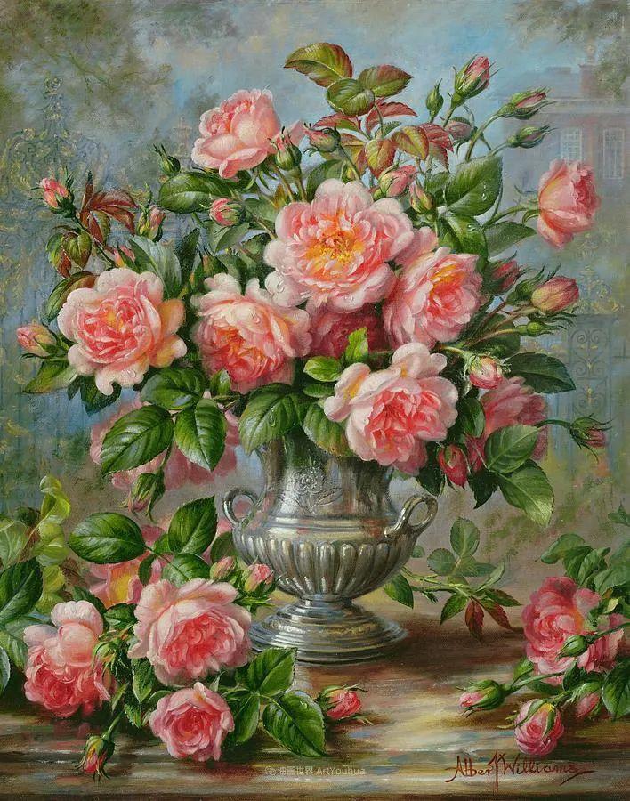 他放弃了古典风格,以更自然、个性化的风格绘画现代花卉!插图109