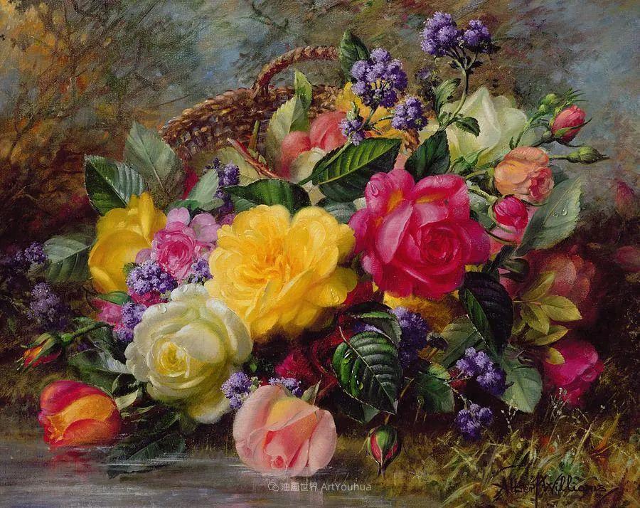 他放弃了古典风格,以更自然、个性化的风格绘画现代花卉!插图111