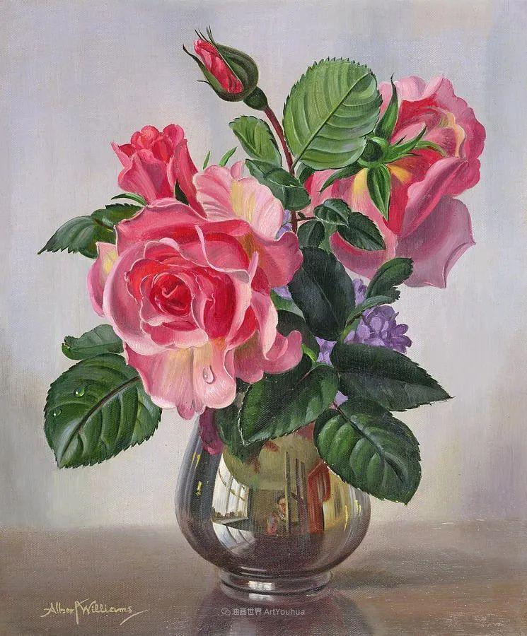 他放弃了古典风格,以更自然、个性化的风格绘画现代花卉!插图113