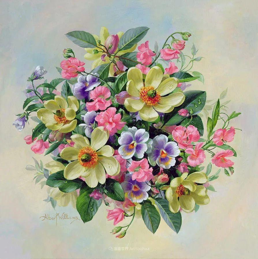他放弃了古典风格,以更自然、个性化的风格绘画现代花卉!插图115