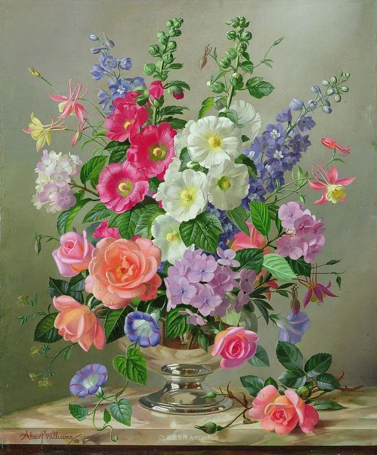 他放弃了古典风格,以更自然、个性化的风格绘画现代花卉!插图119