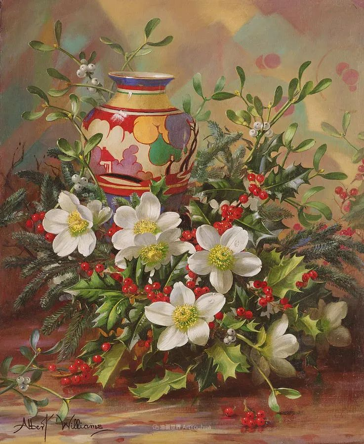 他放弃了古典风格,以更自然、个性化的风格绘画现代花卉!插图121