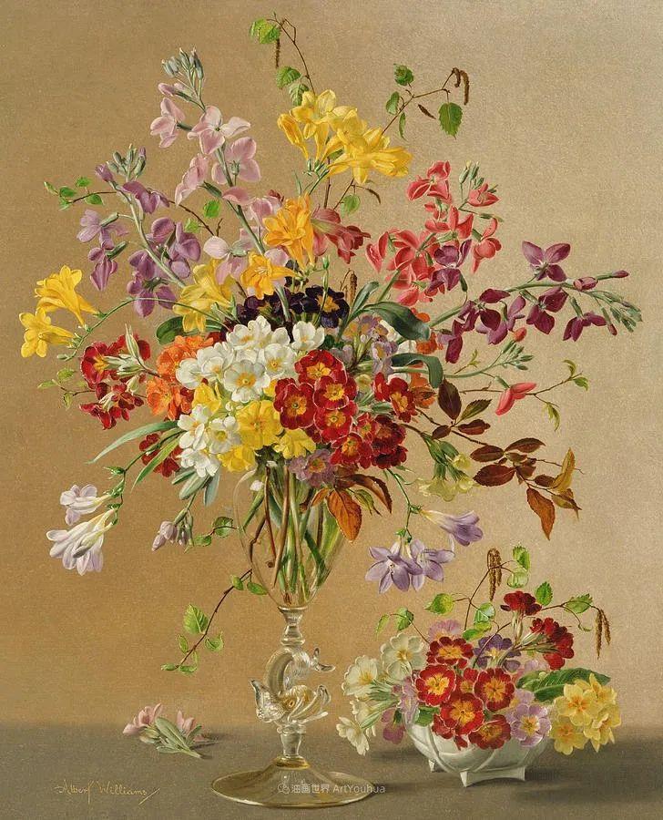 他放弃了古典风格,以更自然、个性化的风格绘画现代花卉!插图125