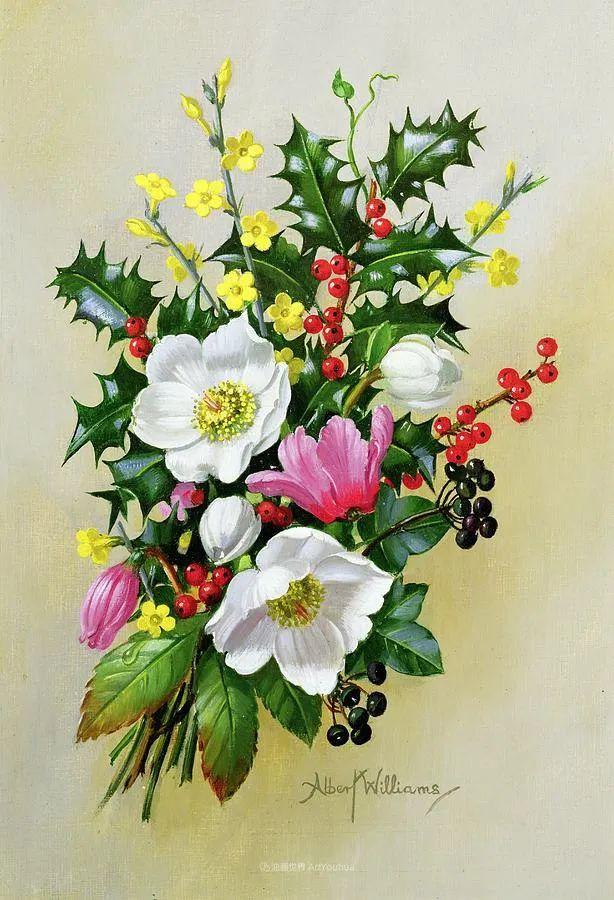 他放弃了古典风格,以更自然、个性化的风格绘画现代花卉!插图127