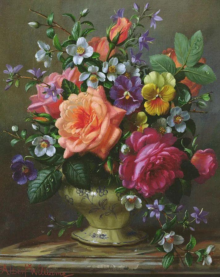 他放弃了古典风格,以更自然、个性化的风格绘画现代花卉!插图129