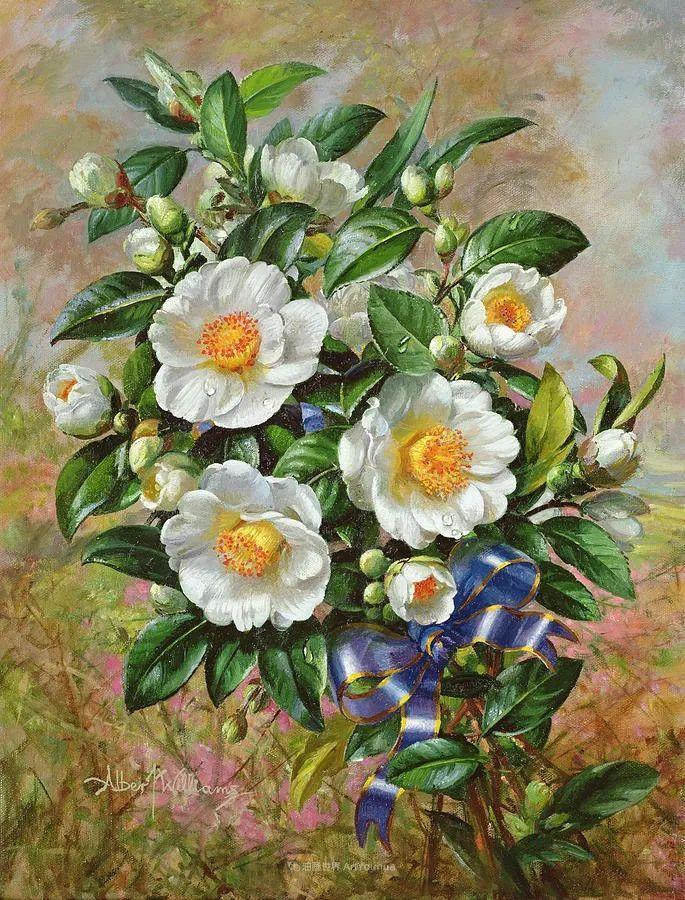 他放弃了古典风格,以更自然、个性化的风格绘画现代花卉!插图131