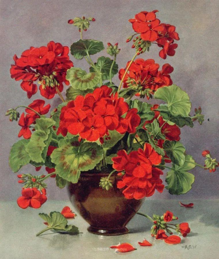 他放弃了古典风格,以更自然、个性化的风格绘画现代花卉!插图133