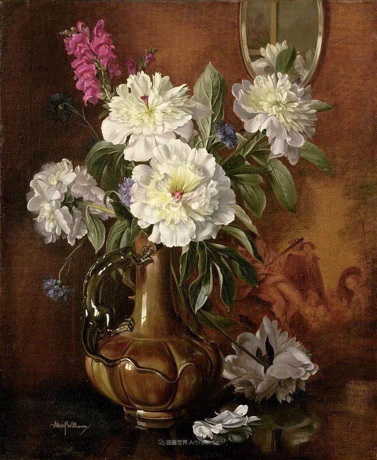 他放弃了古典风格,以更自然、个性化的风格绘画现代花卉!插图135
