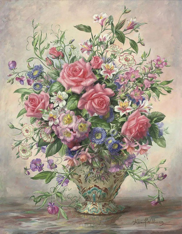 他放弃了古典风格,以更自然、个性化的风格绘画现代花卉!插图137