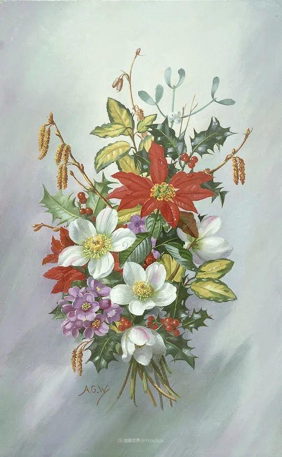 他放弃了古典风格,以更自然、个性化的风格绘画现代花卉!插图141
