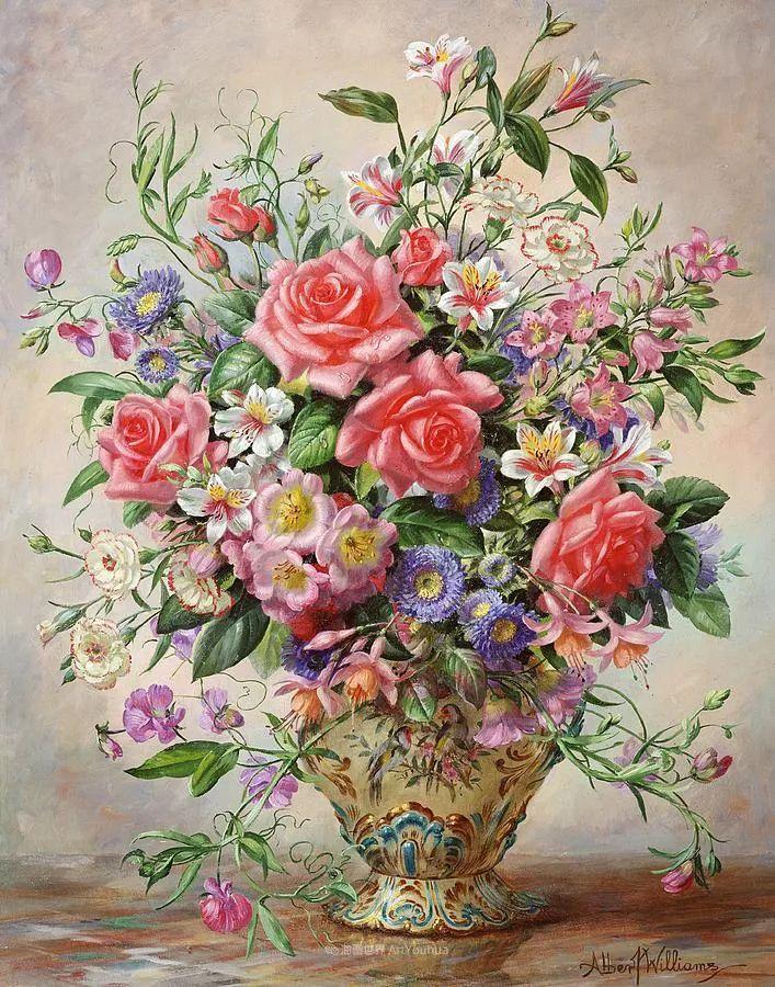 他放弃了古典风格,以更自然、个性化的风格绘画现代花卉!插图143